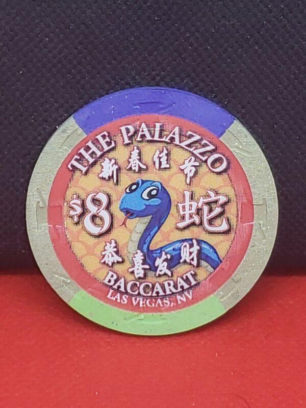 The Palazzo Baccarat $8 Casino Chip
