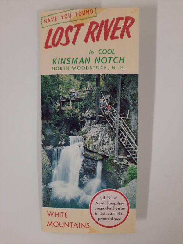NORTH WOODSTOCK NH 1970s Brochure LOST RIVER Kinsman NOTCH tourist vintage