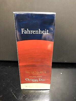 Fahrenheit Christian Dior Perfume Cologne Mens 3.4 oz 100 ml Vintage NEW IN BOX