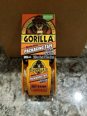 Gorilla Packing Tape Tough Wide W Dispenser 2.83 X 35 Yd Clear Combine Ship