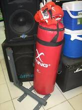 Boxing bag + wall mount stand bracket + 2 sets of gloves Shailer Park Logan Area Preview