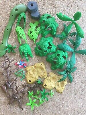 Playmobil Scenery Bundle - Trees, Flowers, Bushes, Plants, Rock, Straw