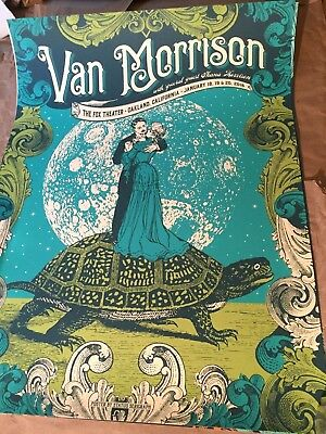 Used, VAN MORRISON FOX THEATER OAKLAND 2016 PRINT POSTER JUSTIN HELTON SIGNED #/125 for sale  Shipping to India