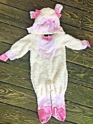 Mary Little Lamb Costume (MARY HAD A LITTLE LAMB Wooly Sheep Halloween Costumer Infant 6 to 12 mths)