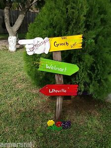 Details about grinch sign whoville christmas yard art decoration decor