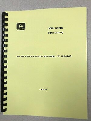 John Deere G Unstyled Tractor Parts Manual - Free Shipping
