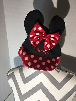 Minnie Mouse Bow ears baby toddler swimming hat with sun - Baby Mouse Ears