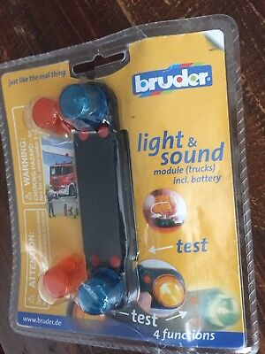 Bruder Light & and Sound Module (Trucks) Includes Battery 4 Functions Brand New