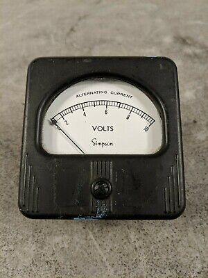 Simpson Electric 3 0-10 Ac Volts Analog Panel Meter - Model 57