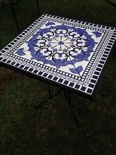 Beautiful tiled outdoor table with wrought iron legs Blackalls Park Lake Macquarie Area Preview
