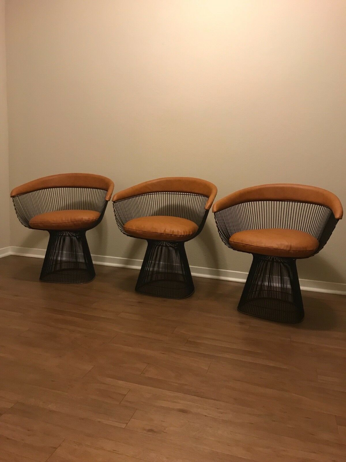 Warren Platner Knoll mid-century modern wire  chairs