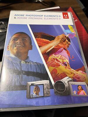 Adobe Photoshop Elements 9 & Adobe Premiere Elements 9 Software CDs w/ Serial #s