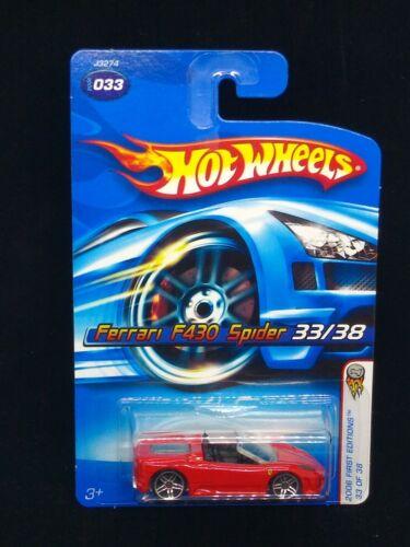 Hot Wheels 2006 1st Editions Ferrari F430 Spider 33 Red  - $7.90