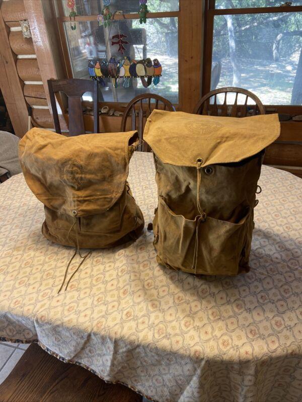 Vintage Boy Scout Back Pack Daypack Bedroll Cook Kit Lot New York