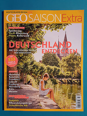 Geo Saison Extra Deutschland Reisen 2016 ungelesen 1A absolut TOP
