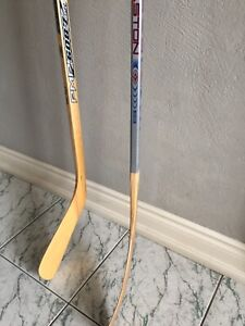 Sher-Wood and Easton Wooden Hockey Sticks