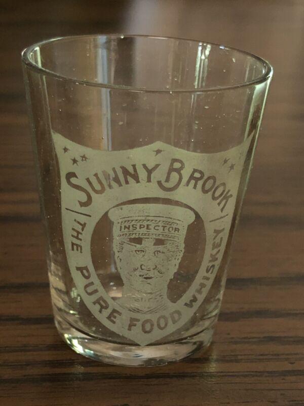 Pre-Prohibition Rare Pleated Sunny Brook Shot Glass