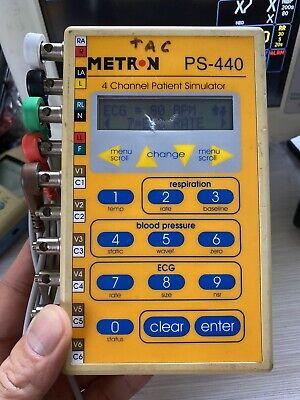 Fluke Metron Ps440 Ps-440 Ecg Bp Temp Patient Simulator For Monitor Calibration