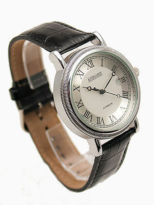 KESSARIS: AUTOMATIC SELF-WINDING MECHANICAL STAINLESS STEEL CASE LEATHER (Automatic Winding Mechanical Watch)