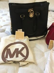 Authentic Michael Kors Hamilton Leather Satchel Bag ( Large)