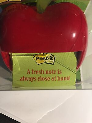Post-it Apple Notes Pop-up Dispenser Teacher Gift Weighted Refillable Red