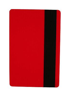 Zebra Plastikkarte Drucker (10 Magnetkarten rot, LOCO, Plastikkarten, Ausweise, Kartendrucker, PVC, Zebra)