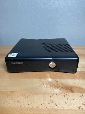 Microsoft Xbox 360 S Model 1439 250GB Black Console Only Tested Works!
