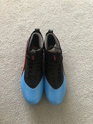 Puma one 19.1 FG Firm Ground Mens Football Boots - BLUE -Size UK 9.5