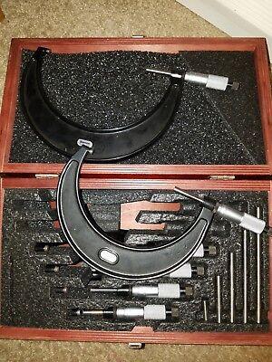 Starrett Micrometer Set 0-6 Inch Fowler Depth Mic Bundle