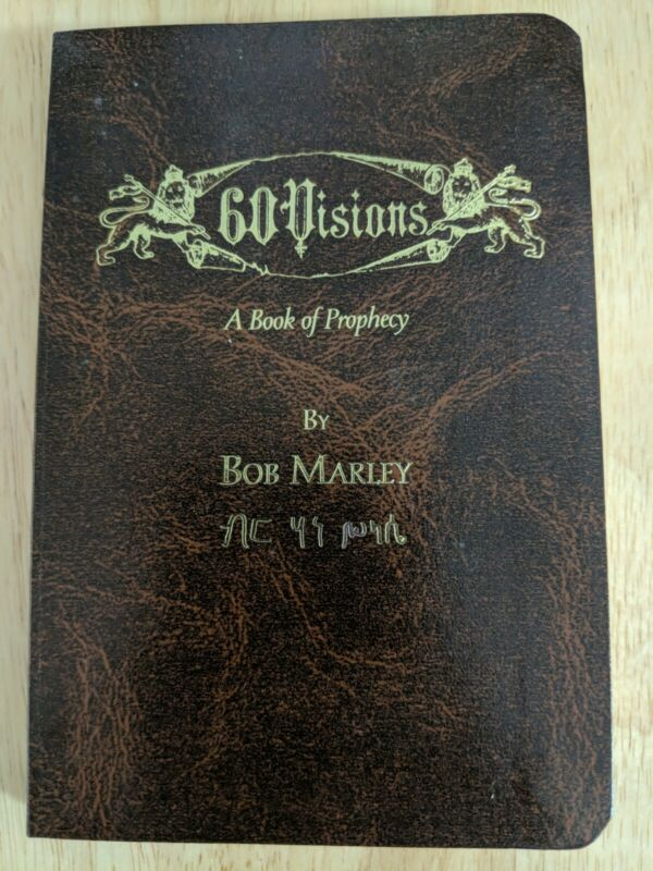 RARE HTF 60 Visions A Book of Prophecy by Bob Marley 2004 NEW Reggae Music