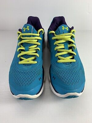 Women's Under Armour Teal/Purple Micro G 4D Foam Sculpt Running Sneakers Size (Under Armour 4d Foam Micro G Womens)