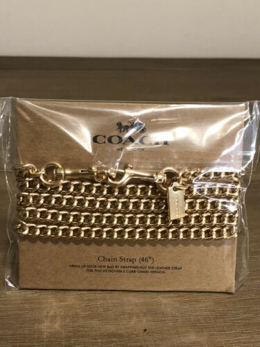 COACH Crossbody Chain Strap GOLD NWT!