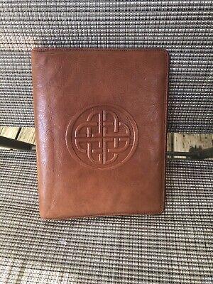 Genuine Leather Plannerbinder - Brown - 9t X 7w - Nice