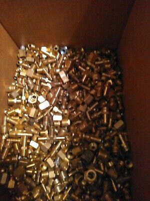 Lot Of 50 Brass Hydraulic Brake Air Plumbing Fittings 14 516 38 12