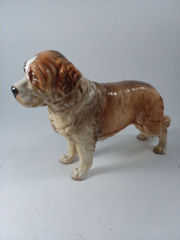 Vtg Large Shafford Porcelain Saint Bernard Dog Made in Japan #168