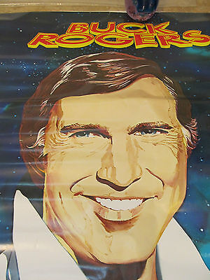 NOS VINTAGE BUCK ROGERS POSTER - 35 X 24 - 1979 - 1978 UNIVERSAL - 2 SIDES