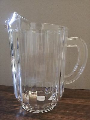 60 Oz Beer Pitcher (PLASTIC PITCHERS 60 oz  CLEAR BAR STYLE POLY CARBON HARD BEER/BEVERAGE(ONE EACH) )