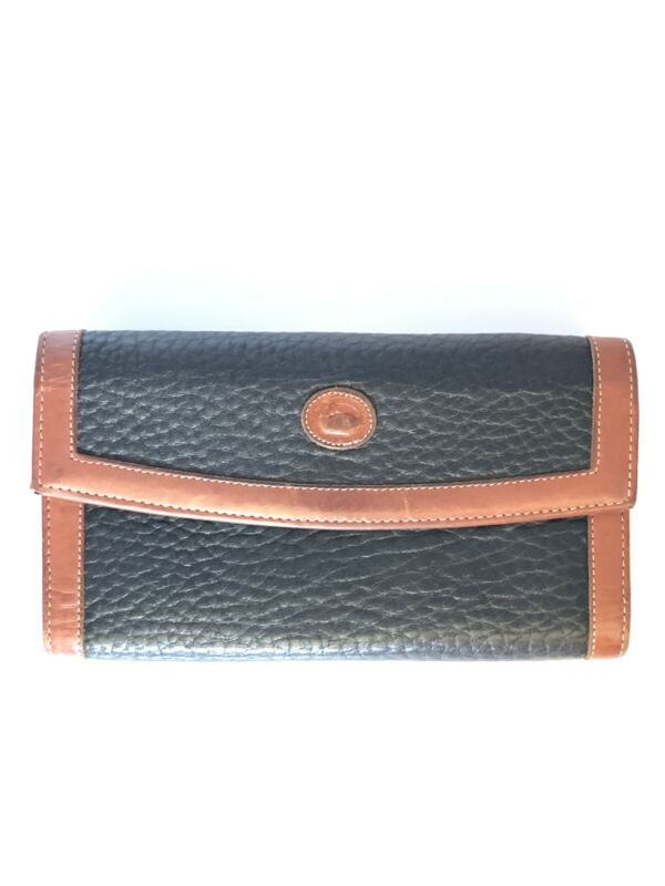 Vintage Donney & Bourke Blue and Brown leather Wallet