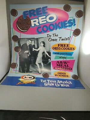 "A &W Root beer collectibles advertising poster new old stock 28""×22"" year 1994"