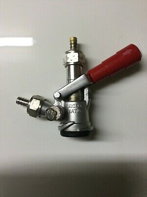 Micro Matic Keg Coupler - D System - Tap With Red Lever Handle