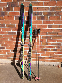 Fischer skis and poles 170/aj24