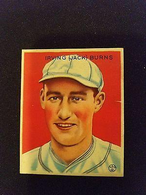 2d9f574d6737ee 1933 Goudey Baseball Card # 198 Jack Burns RC