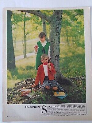 1964 Kleine Mädchen Mccalls Muster Jcpenney's Kleider Vintage Mode Anzeige