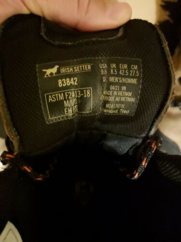 Irish Setter Non-metallic Toe Work Boots Men s Safety Shoes - $80.00
