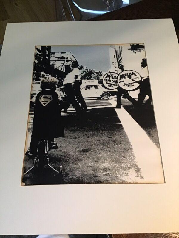 "Vintage 70's ART PHOTO print ""Mehla Drum Corp & Super Boy Springfield Mass"""