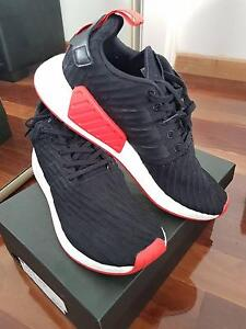 Adidas NMD R2 Primeknit Black/Red Size 11 Keilor East Moonee Valley Preview