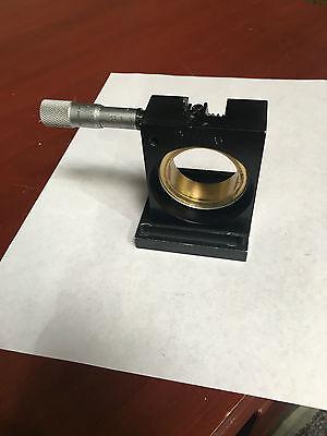 Melles Griot  Adjustable Rotation Stage W Newport Sm-15 Micrometer