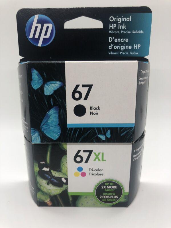 HP 67/67XL Black/Tri-color Ink Cartridges, Pack Of 2 Cartridges