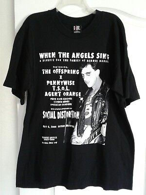 Used Social Distortion Dennis Danell Benefit T-shirt Size XLarge