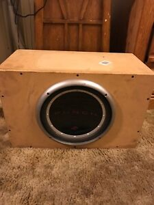 "12"" subwoofer with homemade box"